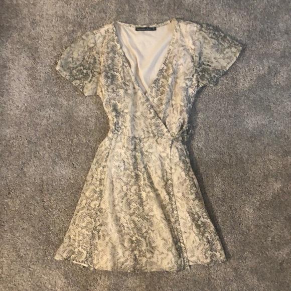 Snakeskin Print Wrap Dress